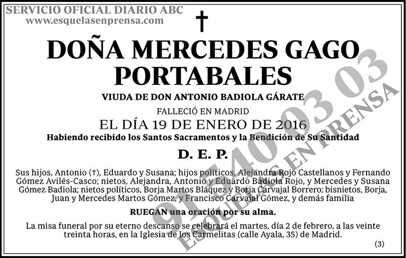 Mercedes Gago Portabales